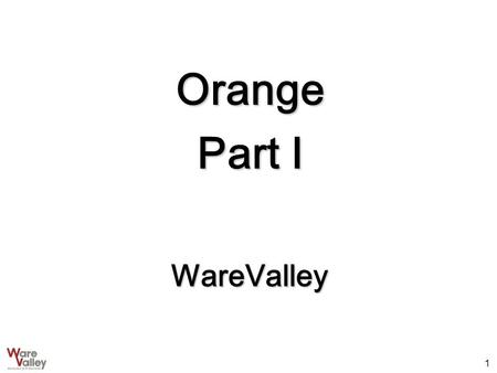 1 Orange Part I WareValley. 2 Orange 기능 Development Tool Schema Browser Query Builder SQL Tool PL/SQL Tool Description Tool Table Editor Loader File Editor.