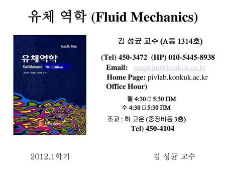 유체 역학 (Fluid Mechanics)