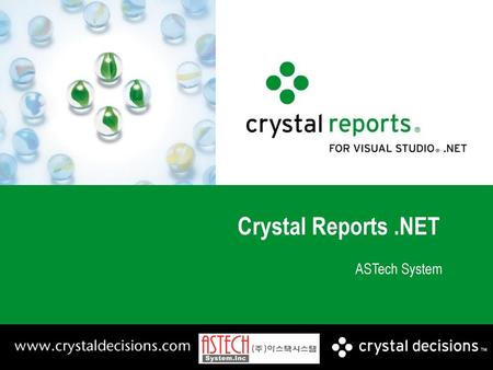 Crystal Reports .NET ASTech System.