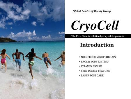 CryoCell Introduction Global Leader of Beauty Group