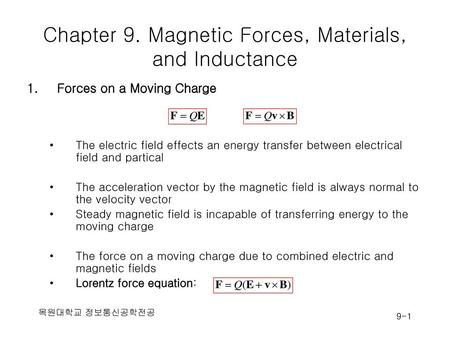 Chapter 9. Magnetic Forces, Materials, and Inductance