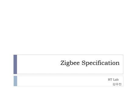 Zigbee Specification RT Lab 강무진.