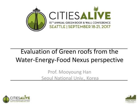 Evaluation of Green roofs from the Water-Energy-Food Nexus perspective