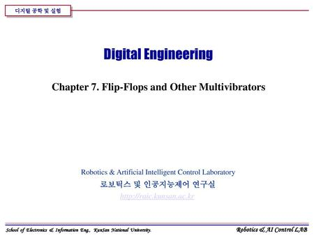 Chapter 7. Flip-Flops and Other Multivibrators