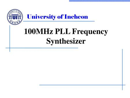 100MHz PLL Frequency Synthesizer