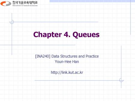 [INA240] Data Structures and Practice
