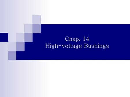 High-voltage Bushings