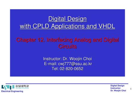 Digital Design with CPLD Applications and VHDL Chapter 12