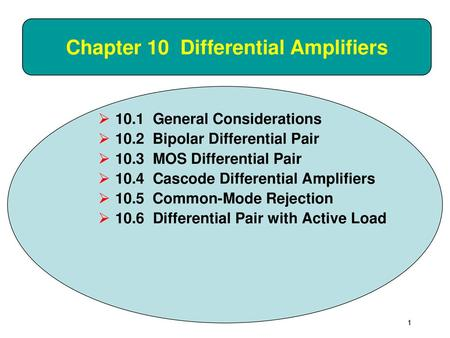 Chapter 10 Differential Amplifiers