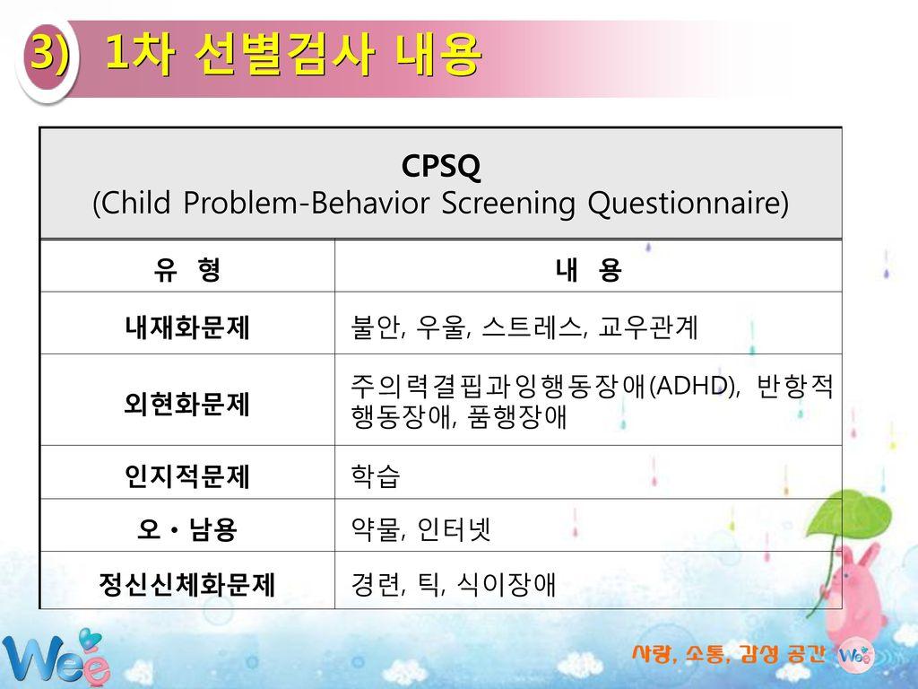 (Child Problem-Behavior Screening Questionnaire)