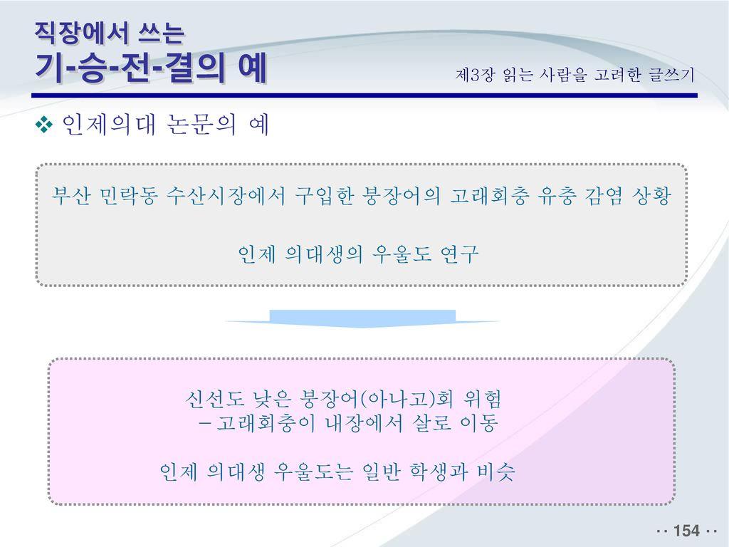 부산 민락동 수산시장에서 구입한 붕장어의 고래회충 유충 감염 상황