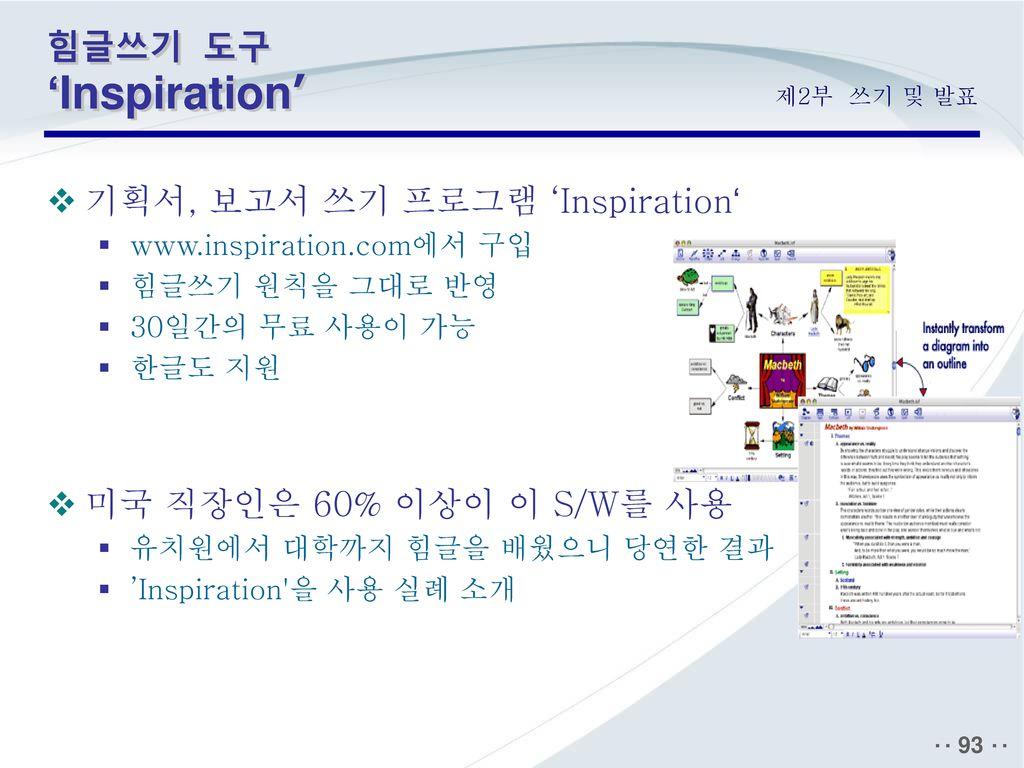 기획서, 보고서 쓰기 프로그램 'Inspiration'