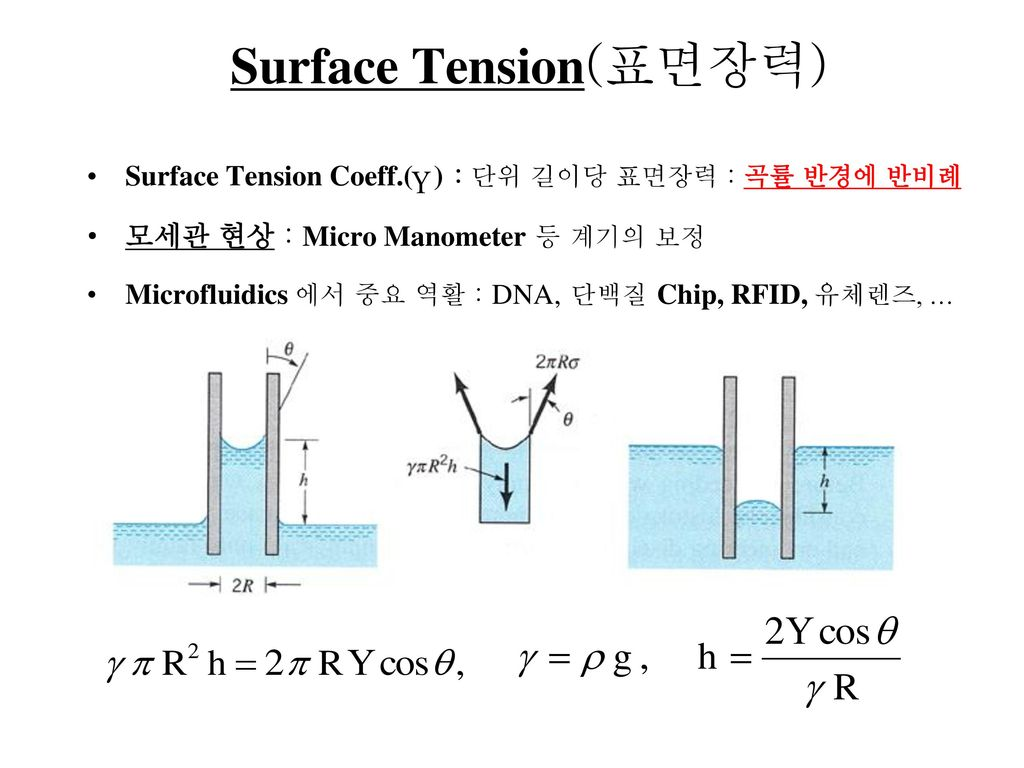 Surface Tension(표면장력)