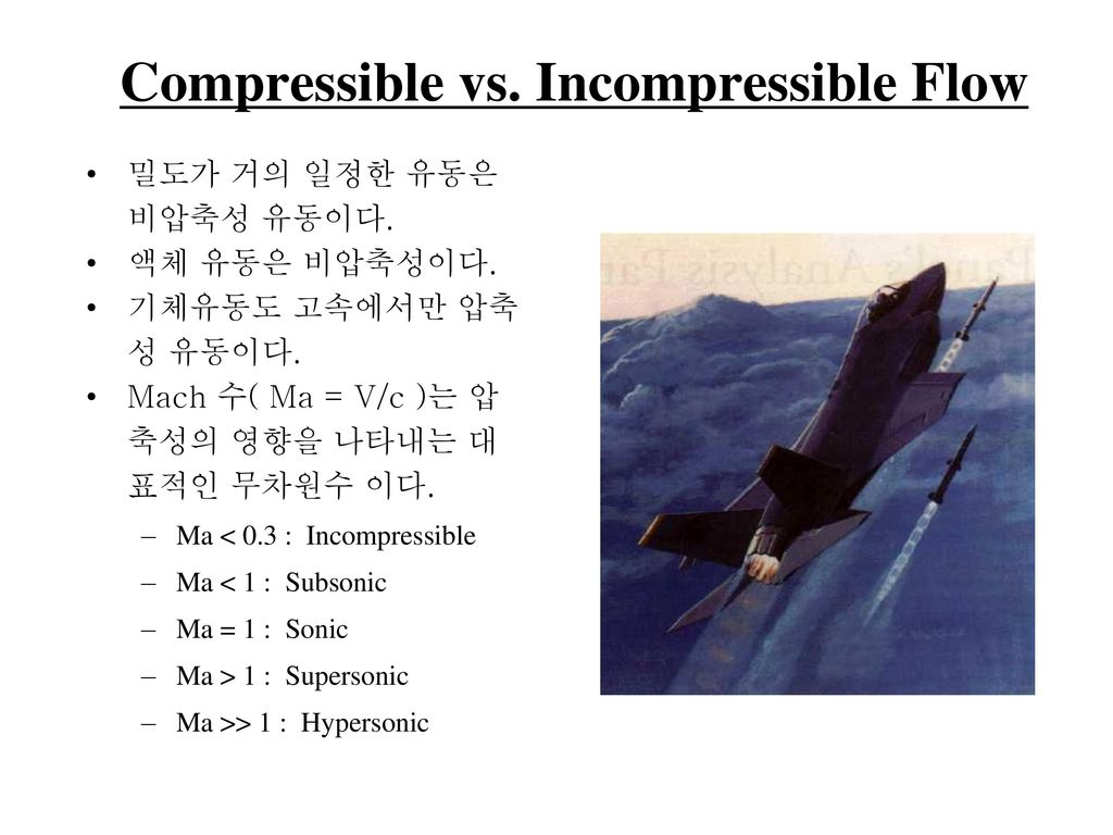 Compressible vs. Incompressible Flow