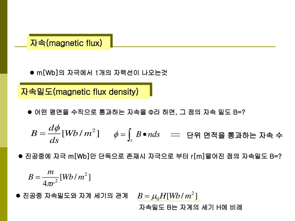 자속밀도(magnetic flux density)