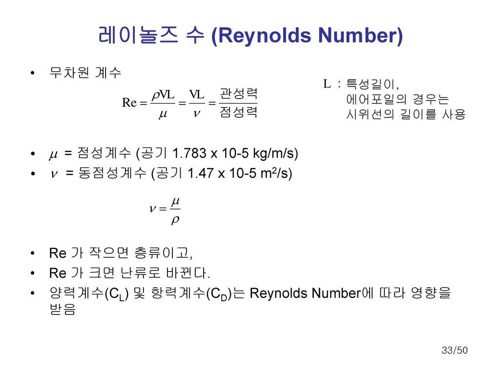 레이놀즈 수 (Reynolds Number)
