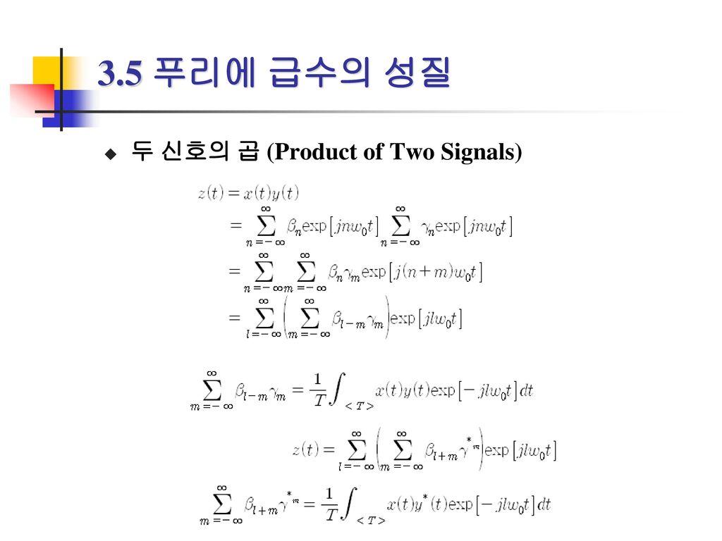 3.5 푸리에 급수의 성질 두 신호의 곱 (Product of Two Signals)