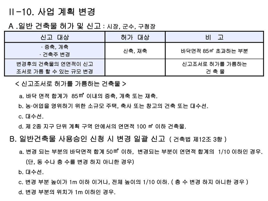 B. 일반건축물 사용승인 신청 시 변경 일괄 신고 ( 건축법 제12조 3항 )