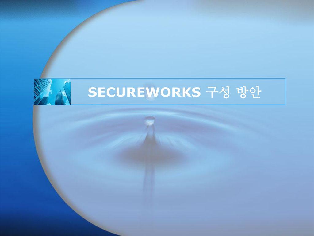 SECUREWORKS 구성 방안