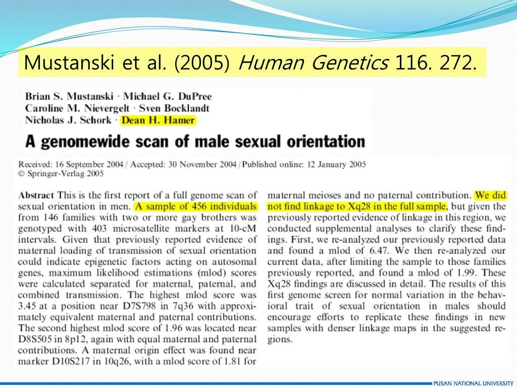 Mustanski et al. (2005) Human Genetics 116. 272.