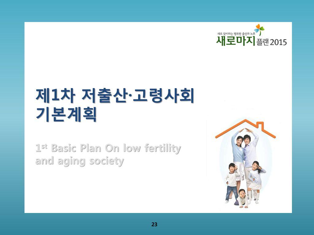 제1차 저출산·고령사회기본계획 1st Basic Plan On low fertility and aging society