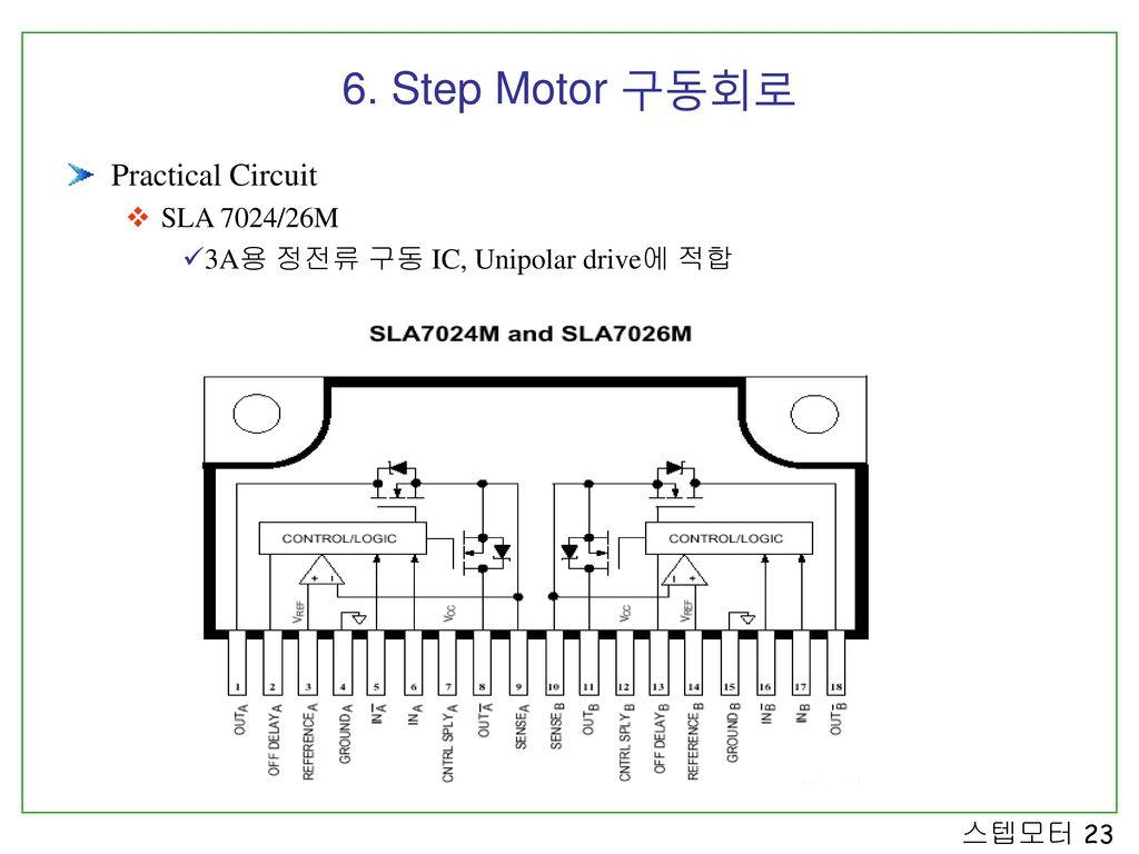 6. Step Motor 구동회로 Practical Circuit SLA 7024/26M