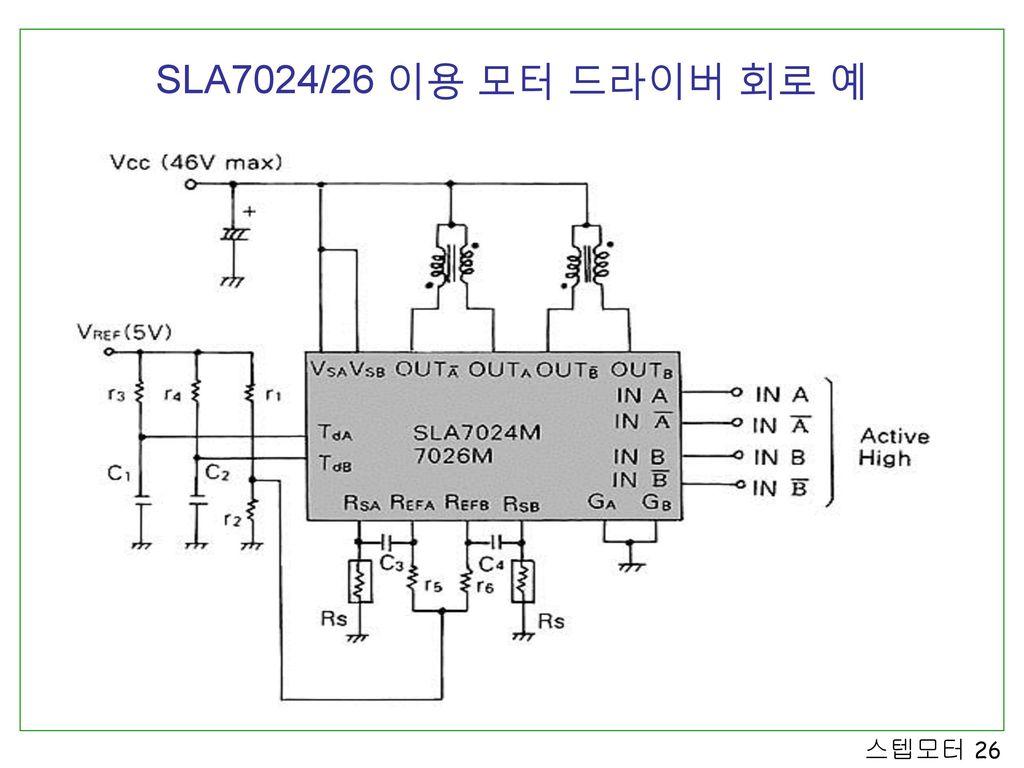 SLA7024/26 이용 모터 드라이버 회로 예
