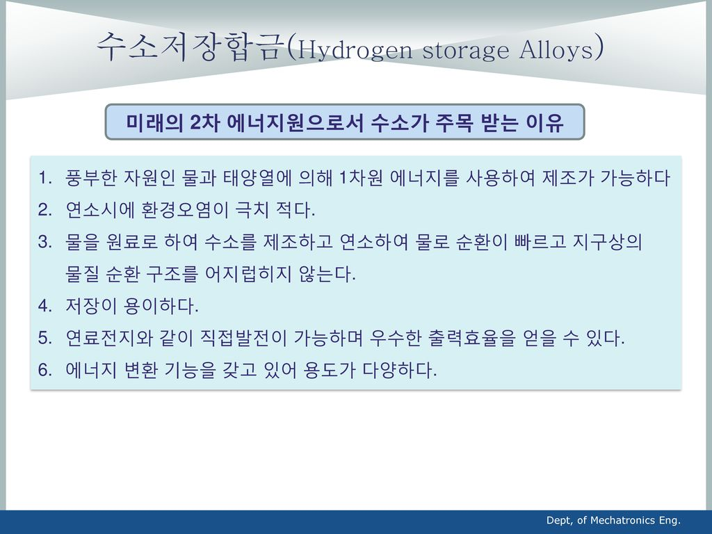 수소저장합금(Hydrogen storage Alloys)
