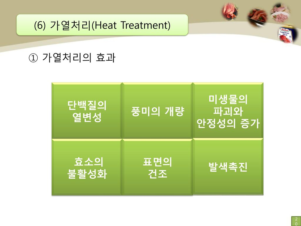 (6) 가열처리(Heat Treatment)