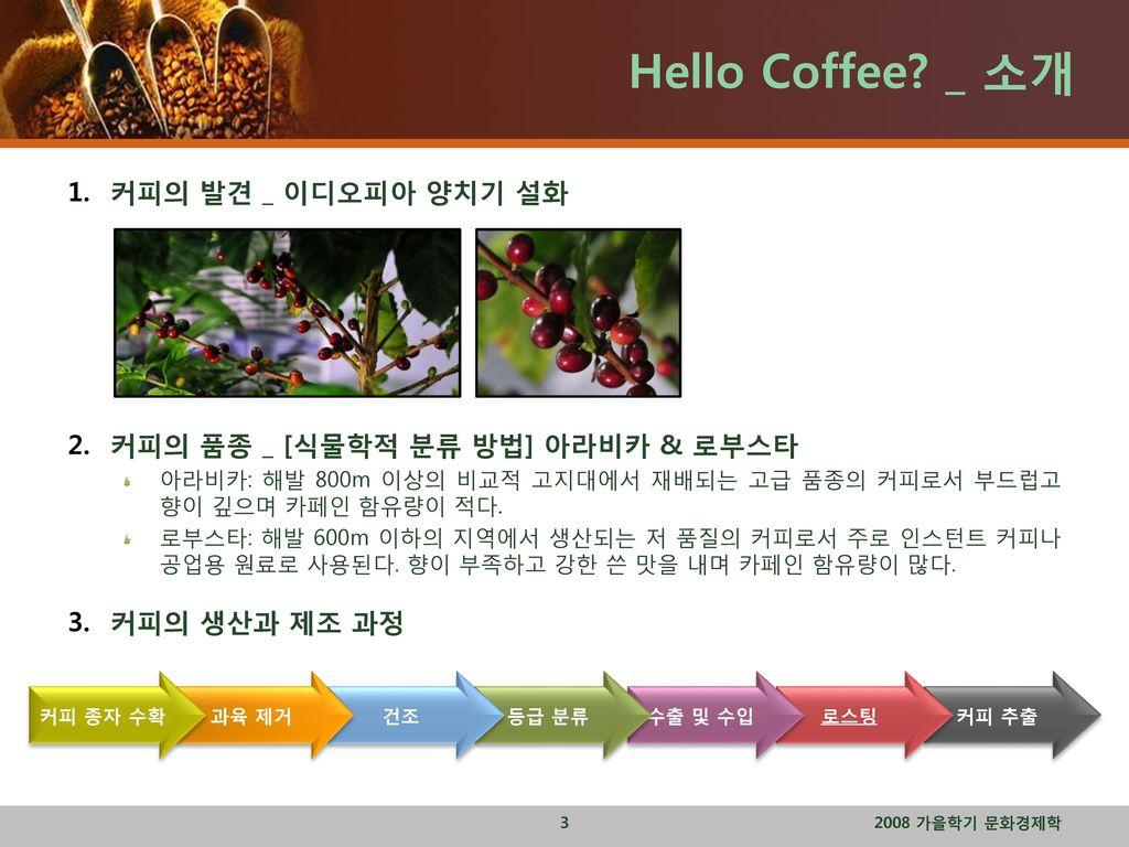 Hello Coffee _ 소개 커피의 발견 _ 이디오피아 양치기 설화