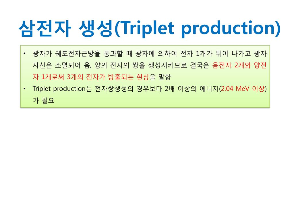삼전자 생성(Triplet production)