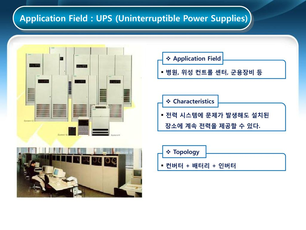 Application Field : UPS (Uninterruptible Power Supplies)