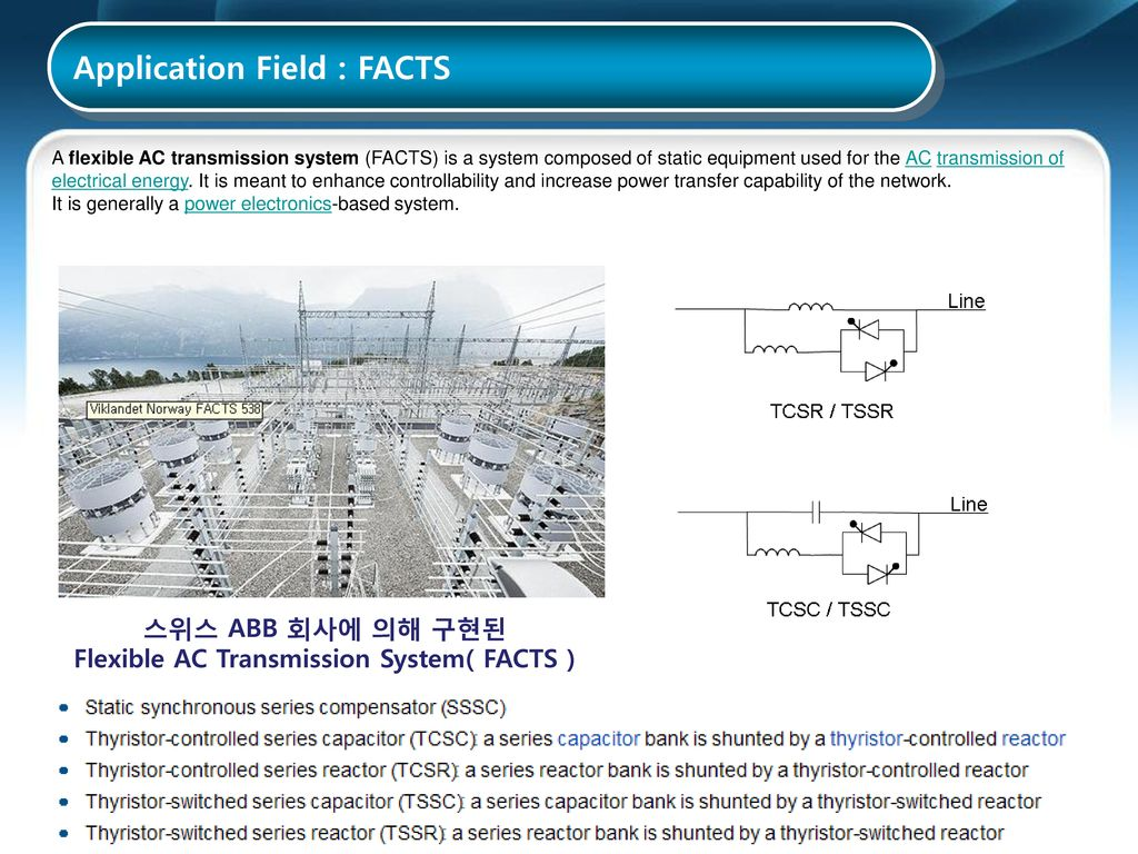 Flexible AC Transmission System( FACTS )