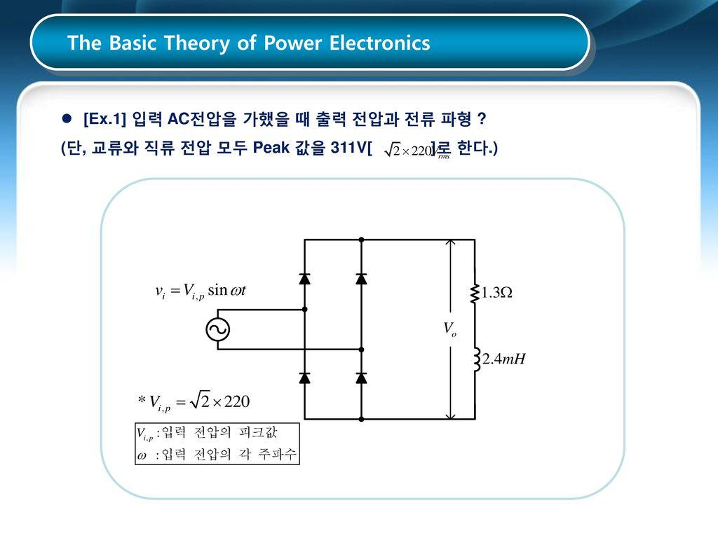 The Basic Theory of Power Electronics