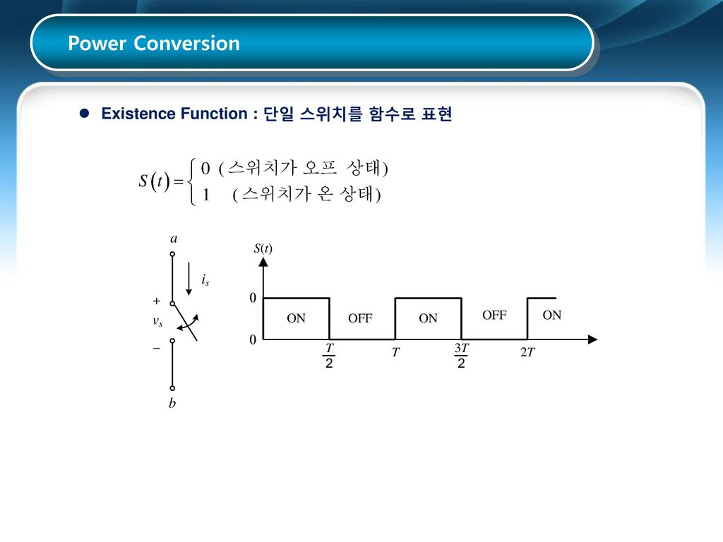 Power Conversion Existence Function : 단일 스위치를 함수로 표현