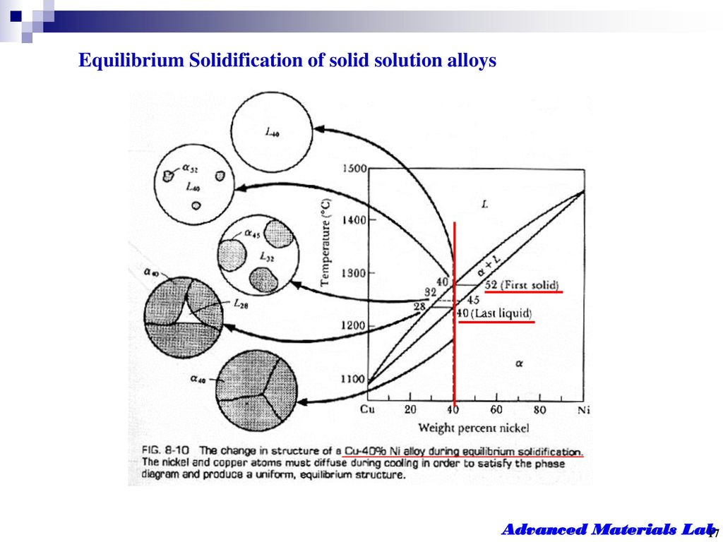 Equilibrium Solidification of solid solution alloys