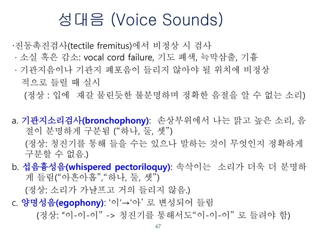 성대음 (Voice Sounds)