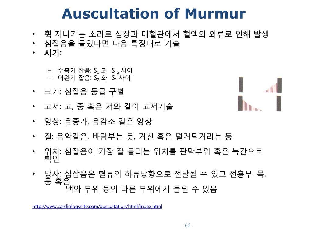 Auscultation of Murmur
