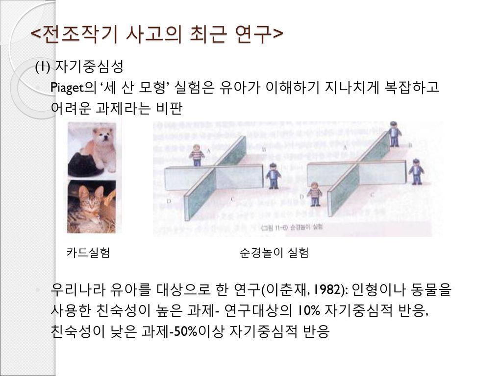 <전조작기 사고의 최근 연구> (1) 자기중심성