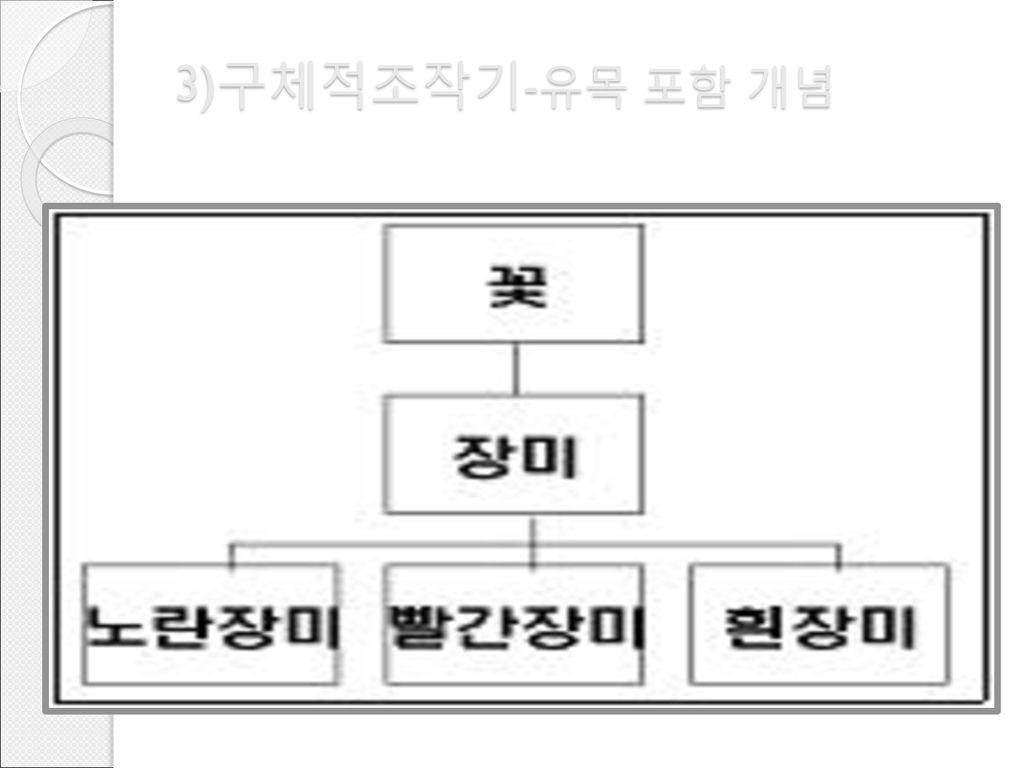 3)구체적조작기-유목 포함 개념