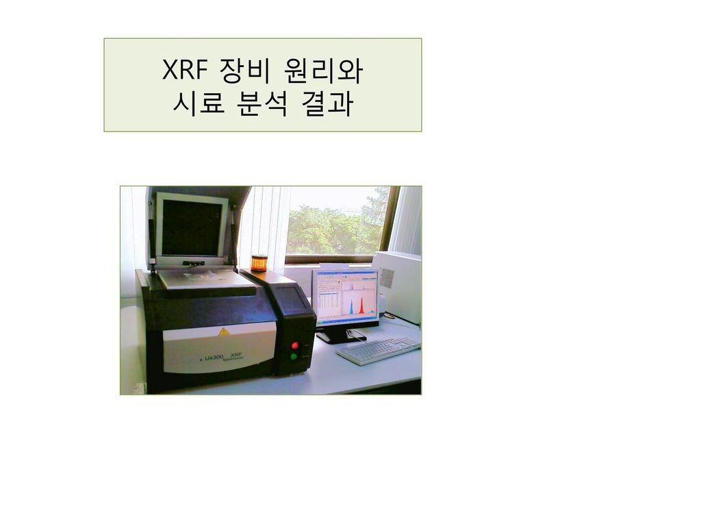 XRF 장비 원리와 시료 분석 결과