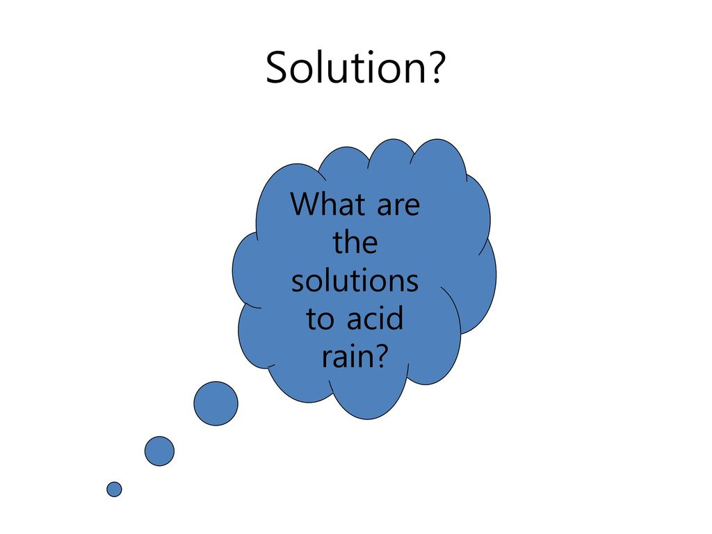 What are the solutions to acid rain