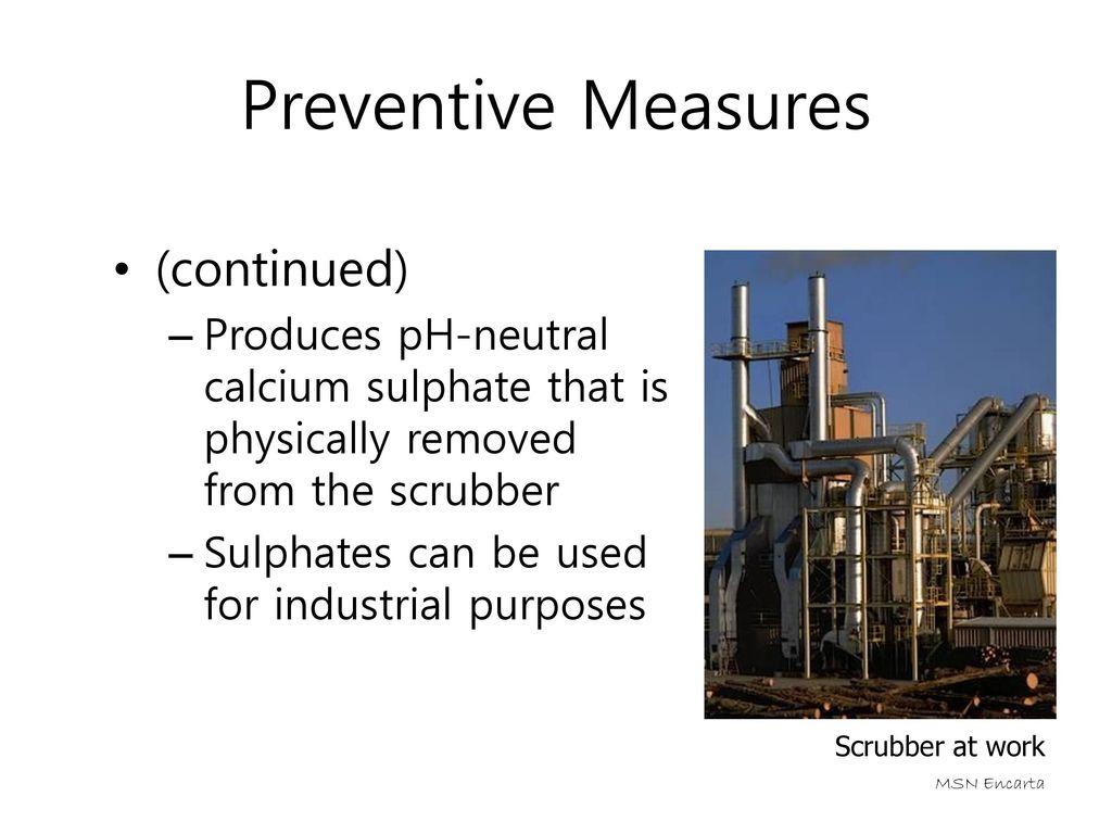 Preventive Measures (continued)