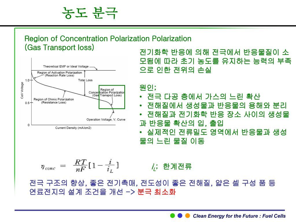 농도 분극 Region of Concentration Polarization Polarization