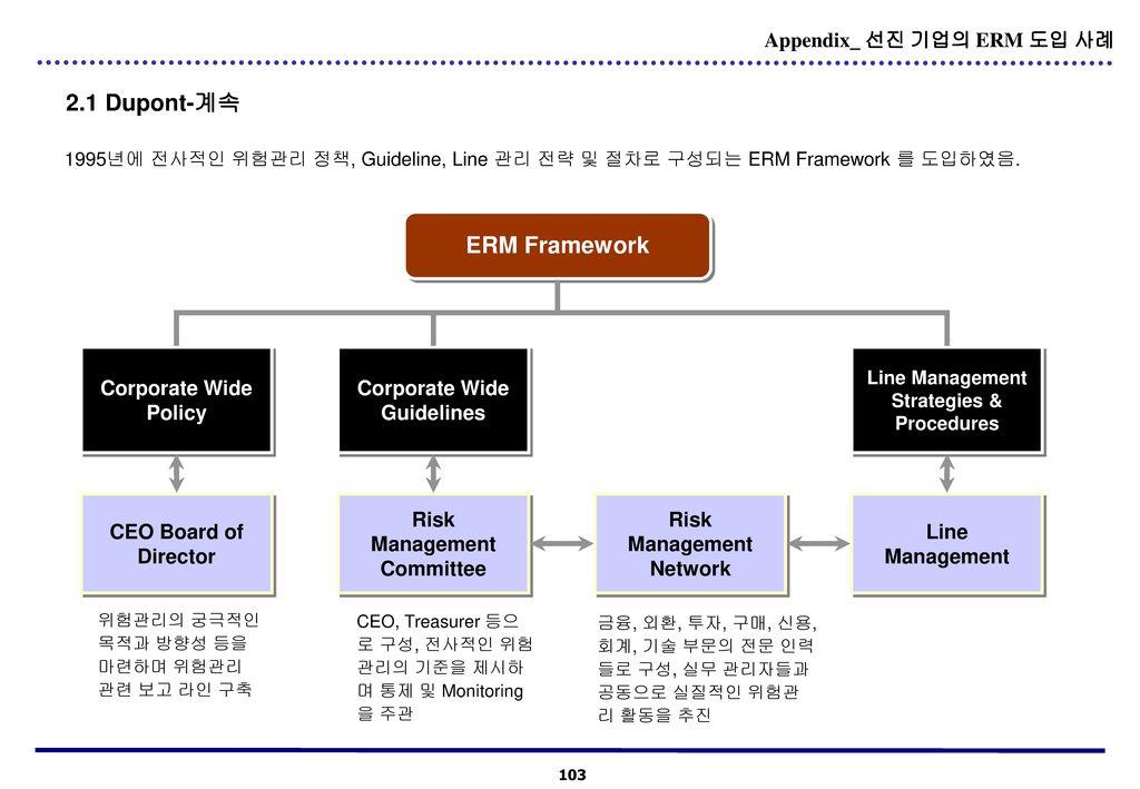 2.1 Dupont-계속 ERM Framework Appendix_ 선진 기업의 ERM 도입 사례