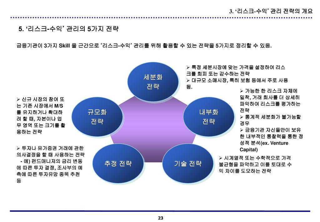 세분화 전략 규모화 전략 내부화 전략 추정 전략 기술 전략