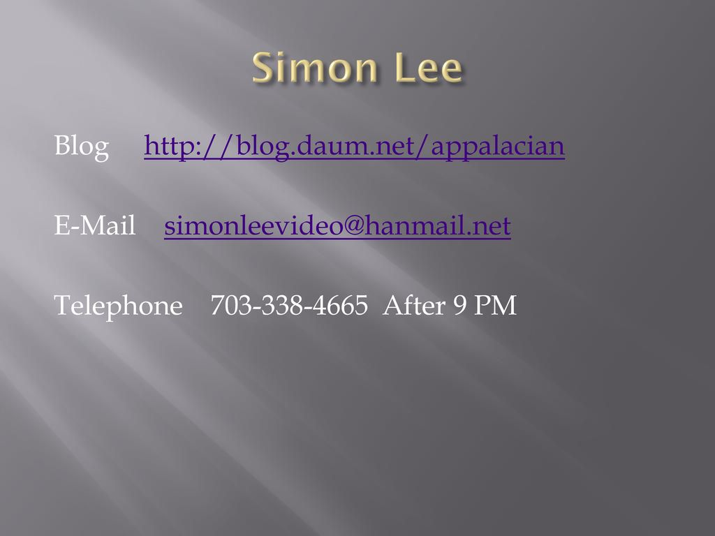 Simon Lee Blog