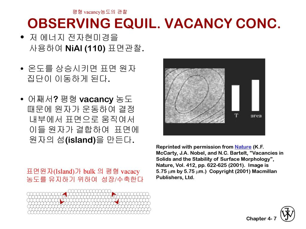 OBSERVING EQUIL. VACANCY CONC.
