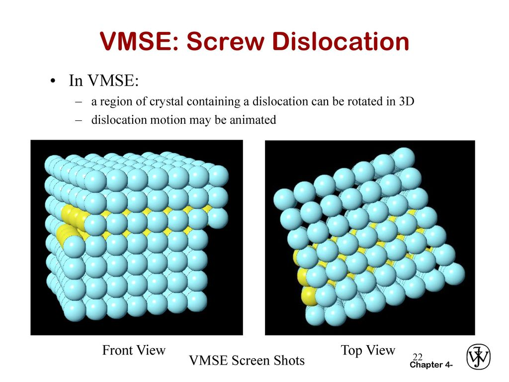 VMSE: Screw Dislocation