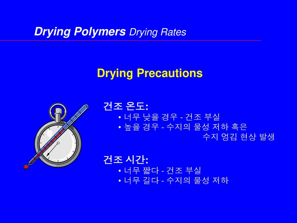 Drying Polymers Drying Rates